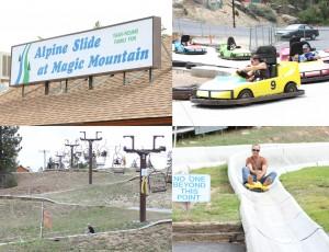 Alpine Slide at Magic Mountain in Big Bear