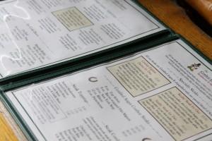 The menu at Cowboy Express Steakhouse in Big Bear Lake