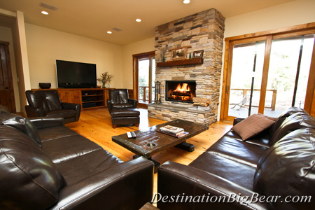 Cabin rental policies destination big bear for Big bear retreat cabins