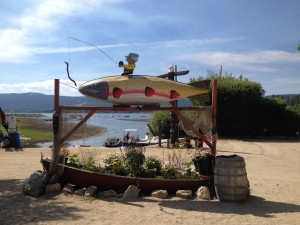 Kayaks and Canoes at Captain John's Marina in Big Bear Lake
