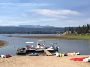 Take a boat out onto Big Bear Lake
