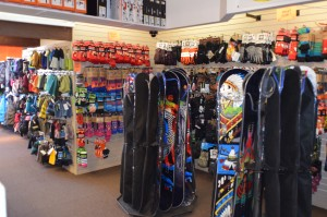 Snowboards in Big Bear