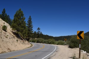 Clear skies for cycling in Big Bear Lake