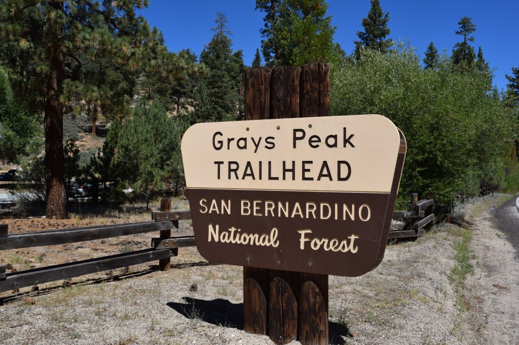 Grays Peak Sign