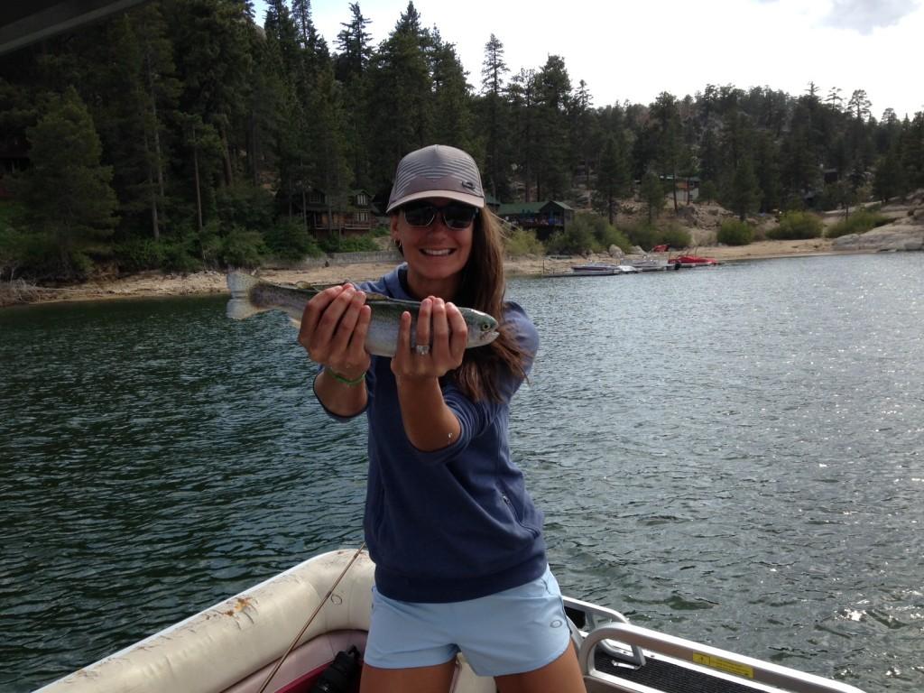 Trout fishing in Big Bear Lake
