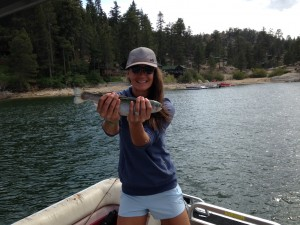 Trout fishing in Big Bear Lake