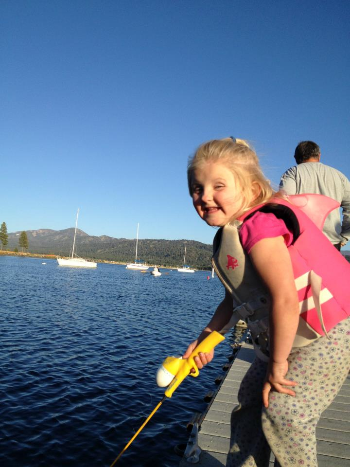 fishing on a family reunion in a big bear lake cabin rental