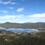 Big Bear Lake from a helicopter