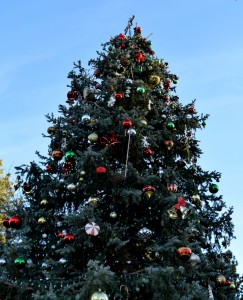 The Village Christmas Tree in Big Bear