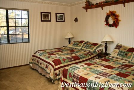 Big Bear cabin rental bedroom before