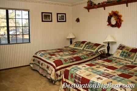 Big Bear cabin rental bedroom before