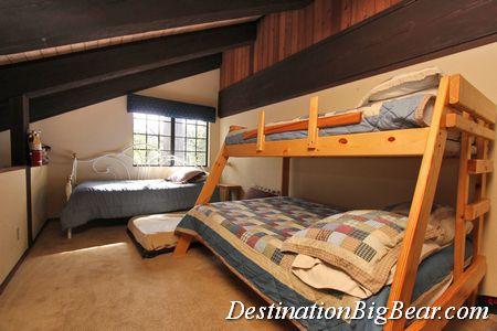 Loft in Big Bear cabin rental before