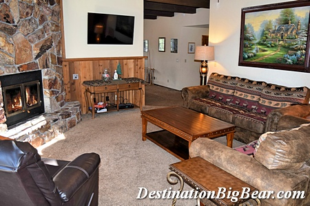 Family room after in Big Bear cabin