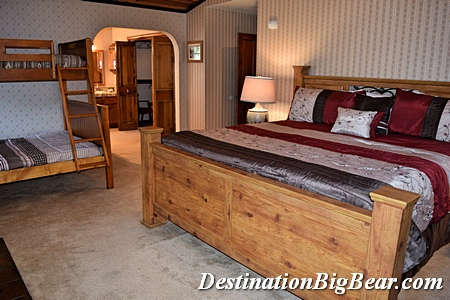 Master suite in Big Bear Lake vacation rental