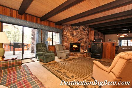 Family Room in Big Bear vacation rental before