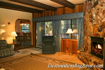 Big Bear cabin family room before