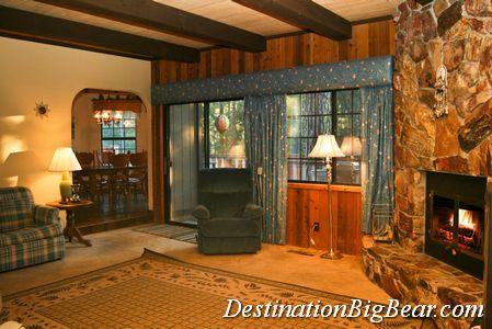Big Bear cabin family room before