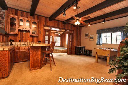 Game Room in Big Bear cabin rental before