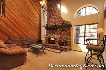 Big Bear Lake cabin rental Living Room Before