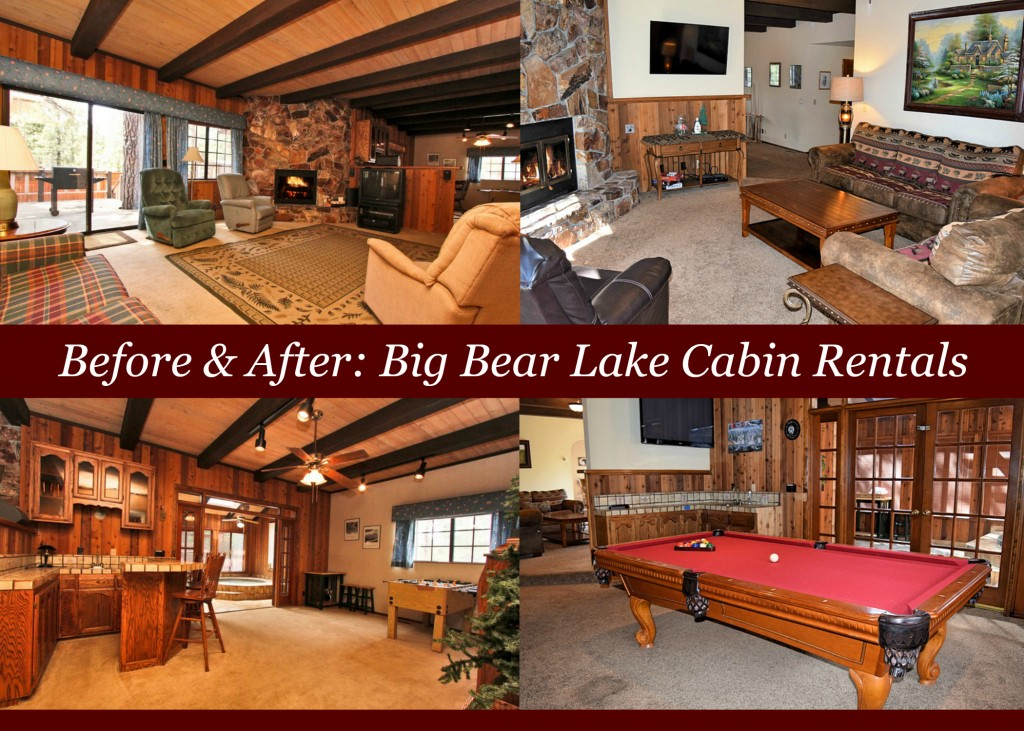 before and after cabin pic