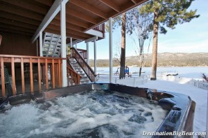 Soak in a hot tub all year round in Big Bear Lake