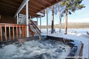 Soak in a hot tub all year round in Big Bear Lake