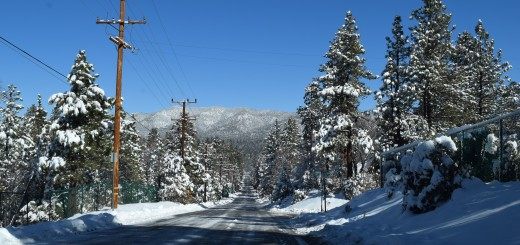 Big Bear Lake road conditions