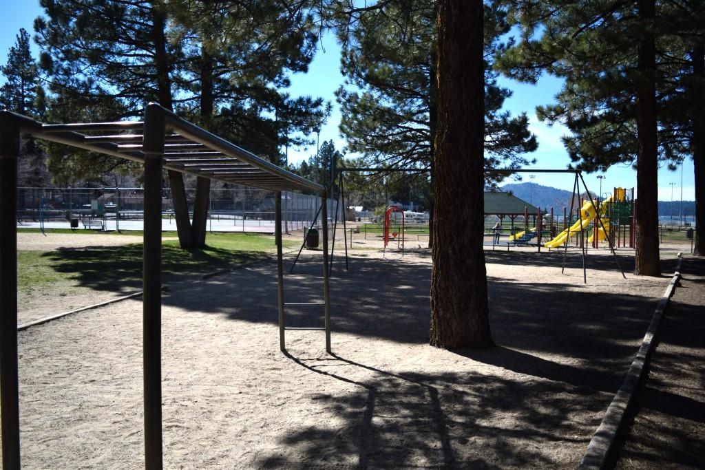 Monkey Bars at Meadow Park in Big Bear Lake