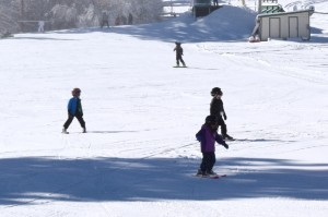Kids skiing at Snow Summit