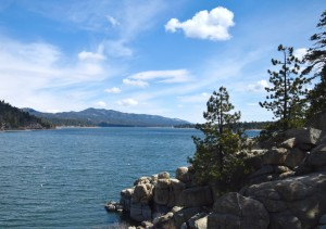 Beautiful views for cycling in Big Bear Lake
