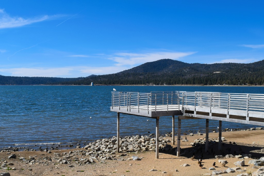 Lake Views from Ski Beach in Big Bear Lake