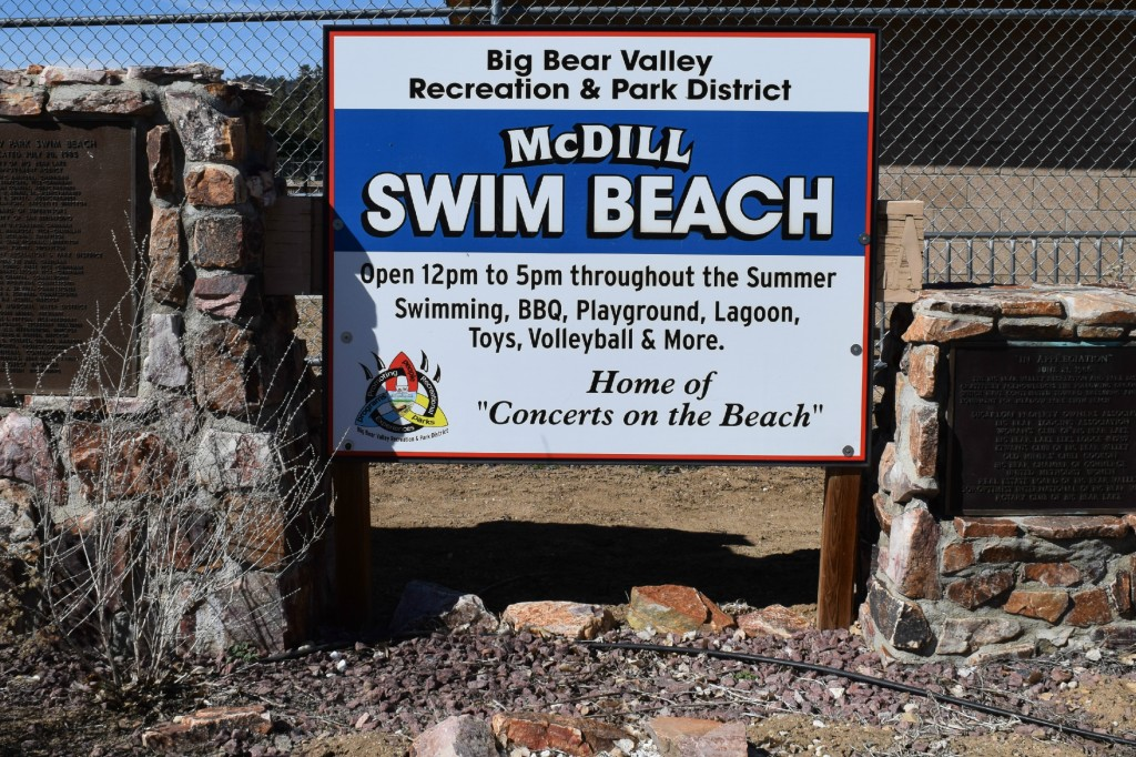 Swim Beach in Big Bear Lake