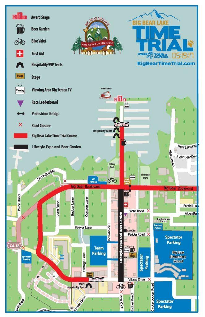 Big Bear Village course map