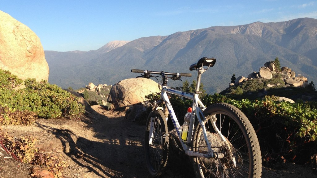 Biking on Skyline Trail in Big Bear Lake