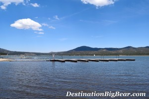 Forest Shores cabin rentals boat dock in Big Bear Lake
