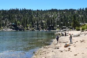 Fishing on the north shore of Big Bear Lake