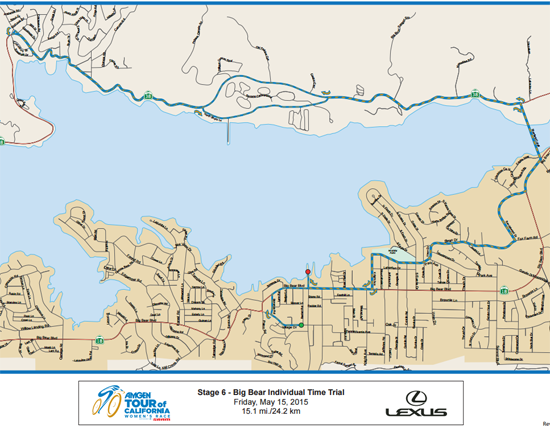 Amgen Tour of California Map