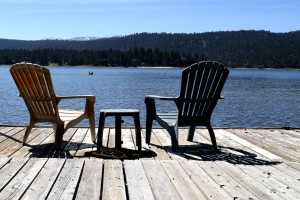 Enjoy the views from a private dock in Big Bear Lake