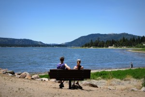 Relaxing at Big Bear Lake vacation rental