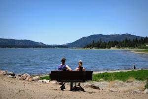 Relaxing at Big Bear Lake vacation rental