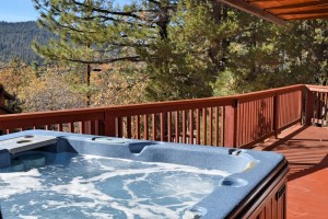 hot tub at a vacation rental in Big Bear Lake