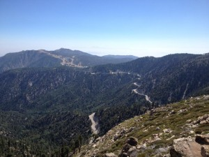 The view from Butler Peak in Big Bear Lake