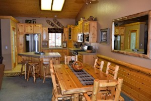 Gather around for a warm meal in your Big Bear cabin rental