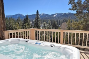 Soak in the hot tub at your vacation rental in Big Bear