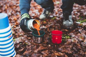 camping and coffee in Big Bear