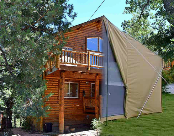 Camping vs big bear cabin rentals destination big bear Campground cabin rentals