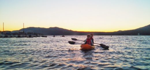 Kayaking on Big Bear Lake