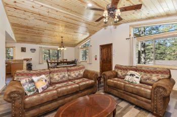 Big Bear Cabin - 42 Wrens Nest - Living Room
