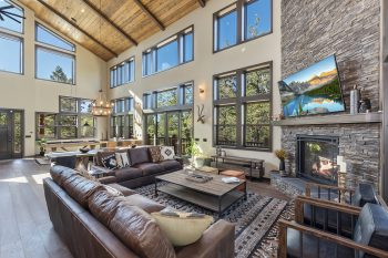 Big Bear Cabin - Big Sky - Living Room