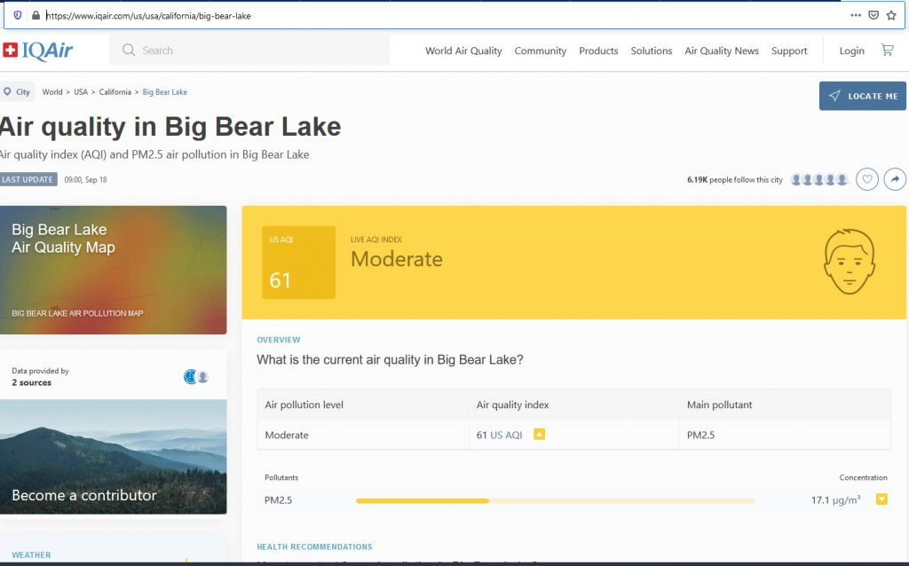 Air Quality in Big Bear